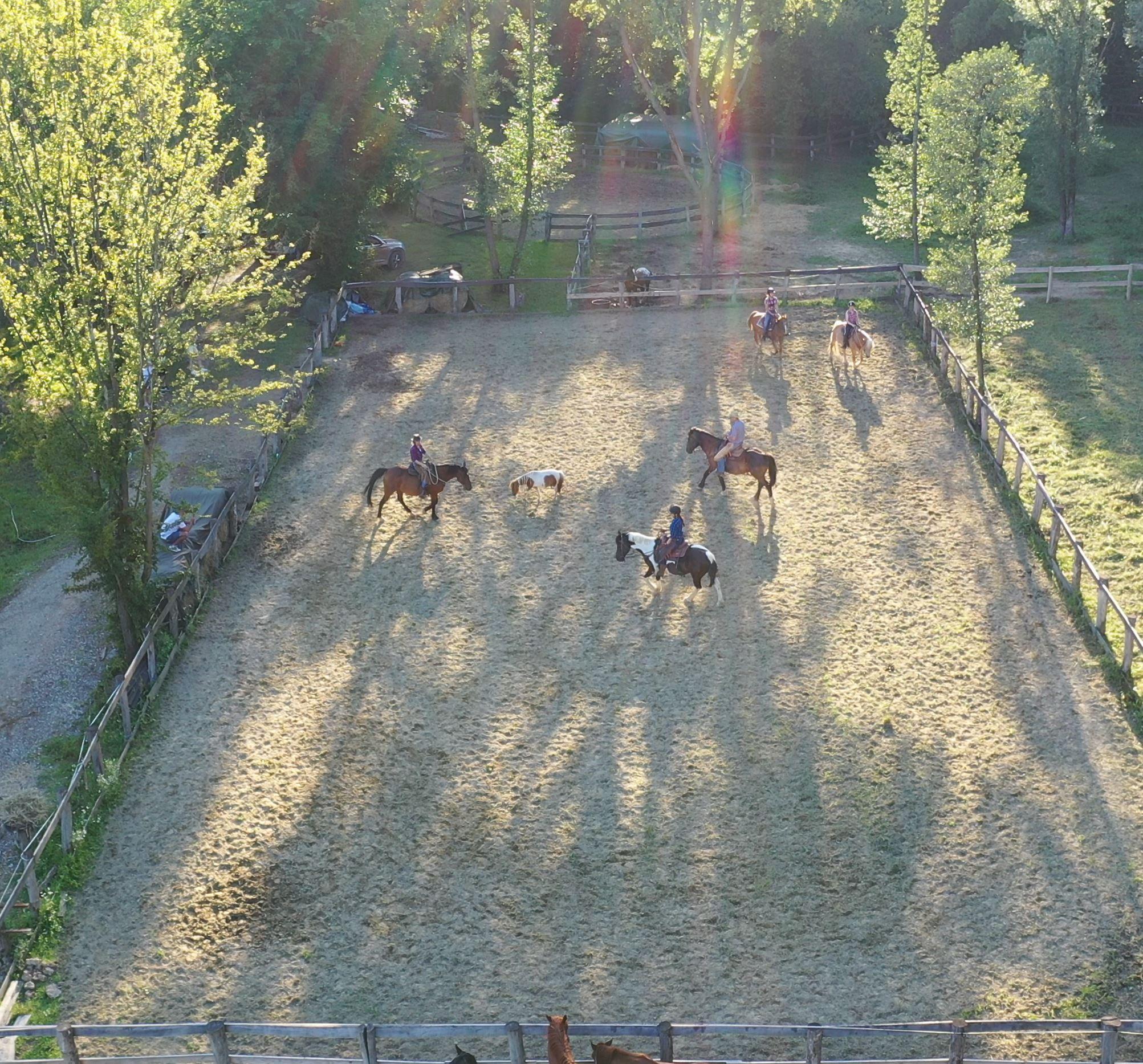 western jahanje, western ranč
